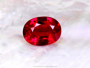 [Top Quality] Grade AAAAA Vivid Pigeon blood Red Natural Burma Ruby gemstone