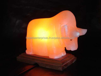 USB Himalayan Rock Salt Lamp With Electric cord and Bulb.
