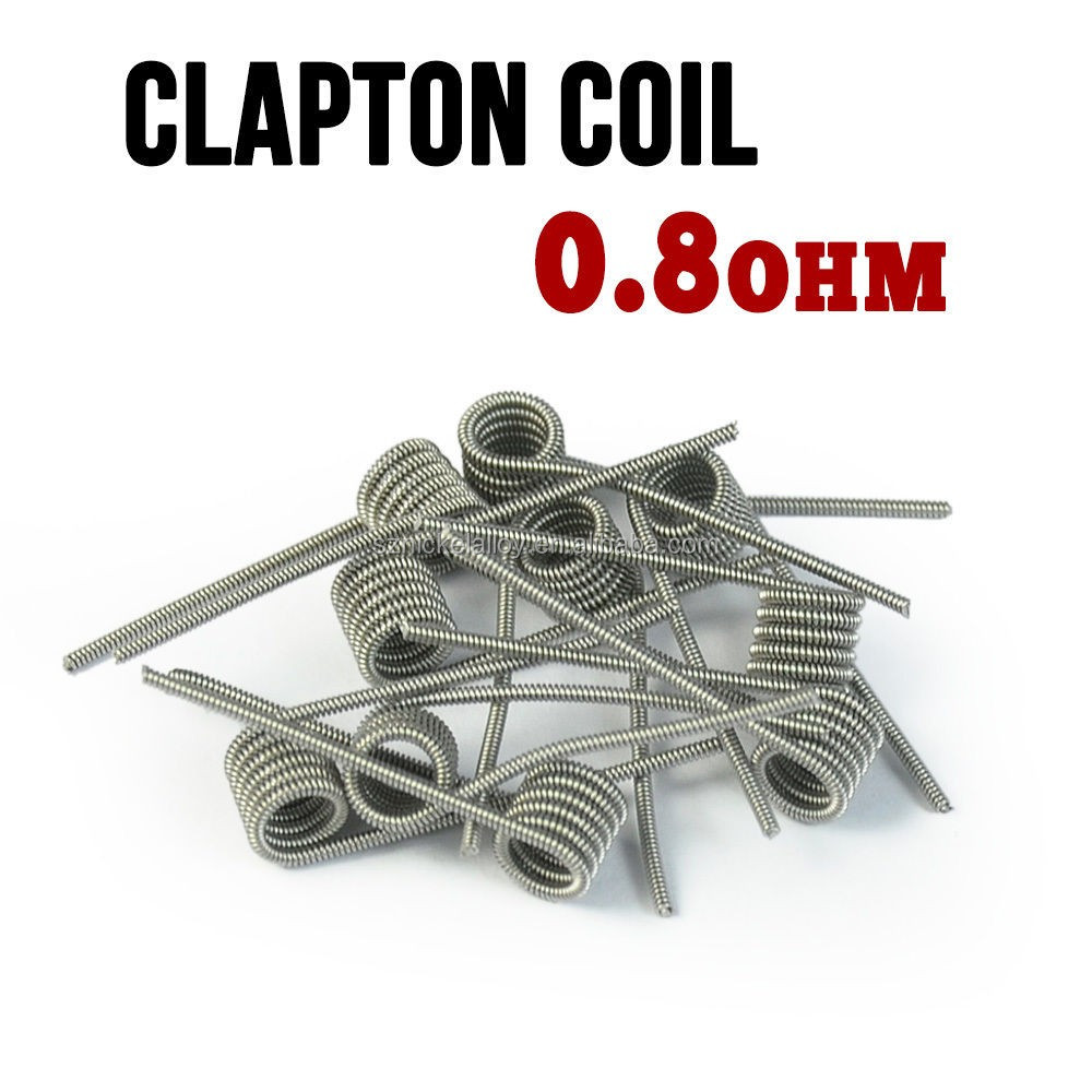 China Wholesale Ecig Coil Ni80 Staple Staggered Fused Clapton Wire ...