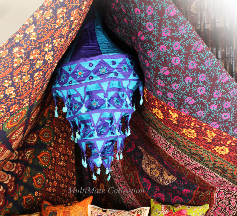 Indian fabric lamp shades cotton outdoor lamp covers square ethnic indian fabric lamp shades cotton outdoor lamp covers square ethnic lamp shade hanging mozeypictures Image collections