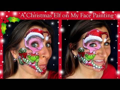 How to Face Paint a Christmas Elf