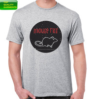 New Mouse Rat Print Gray Design Men's Guys Fashion T-shirt Tee Cotton Casual Fit Round Neck Silk Screen Print OEM Customize