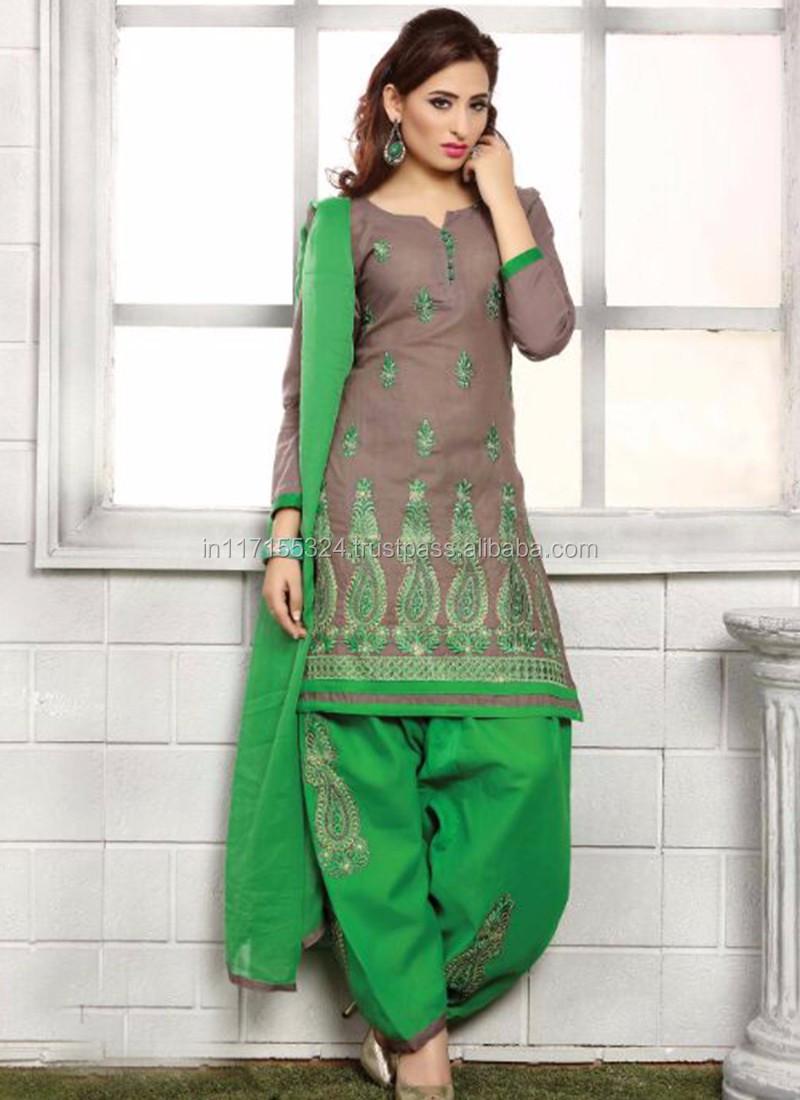 Purple Punjabi Salwar Suit Design - Punjabi Suit Embroidery ...