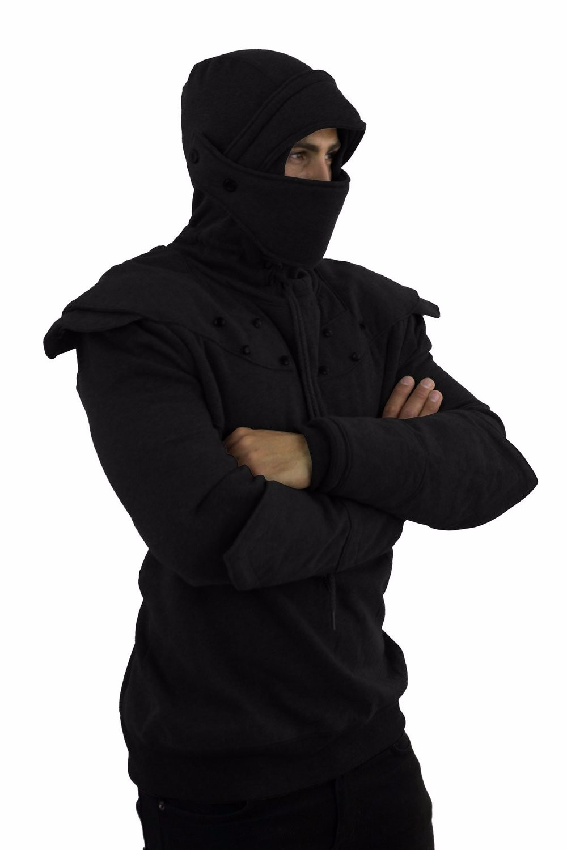 e9aa5ba1 Dark Grey Armored Knight Hoodie/ninja Armor Hoodie(100% Handmade ...