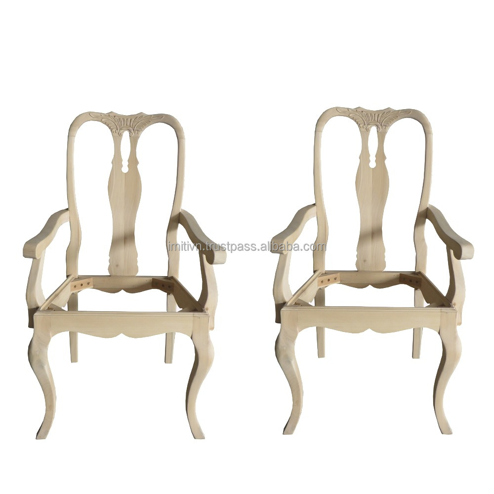 Furniture Parts Made In Vietnam Small Order Low Moq Unfinished Wooden Chair Frames