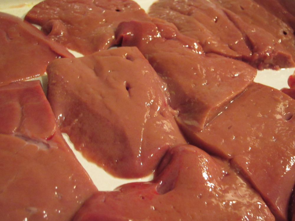 Frozen beef liver from USA