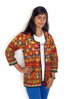 Indian ethnic handmade kutch embroidery jacket - Gujarati readymade rabari embroidered navratri jacket for women