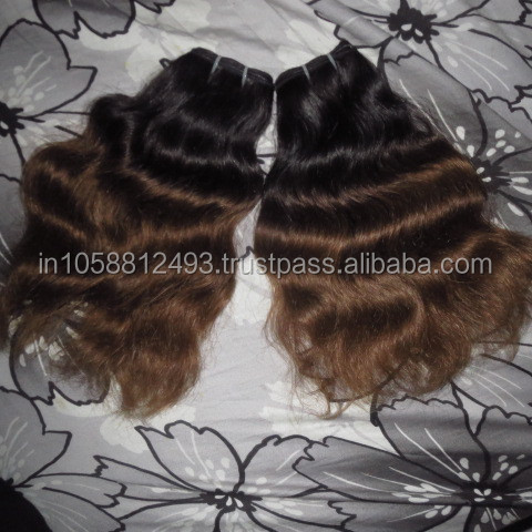 2016 New fashion Omber two tone wave 100% unprocessed virgin brazilian hair supplier from india Dev hair exports chennai