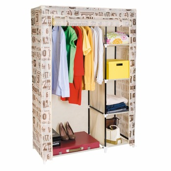 Art moon manitoba double canvas wardrobe closet cupboard storage art moon manitoba double canvas wardrobe closet cupboard storage hanging rail 105x45x160 cm sisterspd