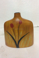 Best selling High quality Yellow Lacquer Bamboo Vase from Vietnam