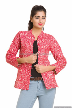 a98497777c79 Sexy Floral Jackets Casual Coat Winter Season Stylish Red Blazer ...