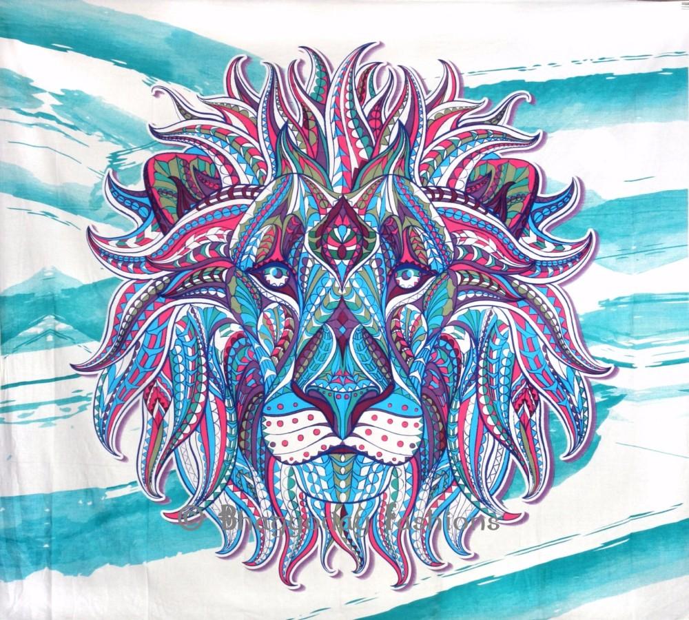 Bulu Singa Permadani Kain Katun India Decor - Buy Product
