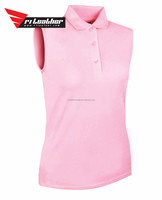 custom women fashion dry fit sleeveless golf polo shirt professional manufacturer high quality made in