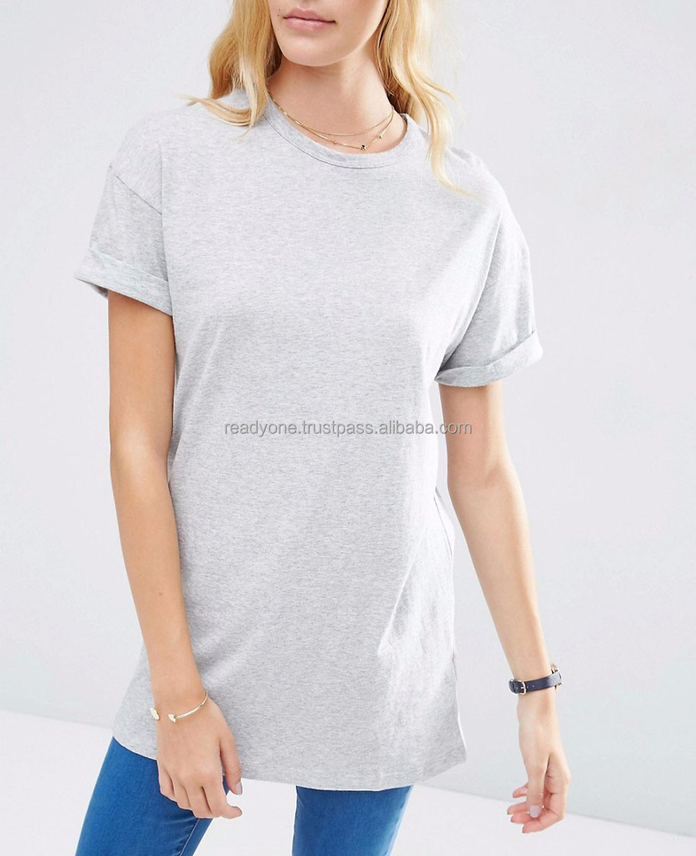 Custom Women Casual Short Sleeve Printed Cotton T Shirts,Oem Clothes Grey O Neck Printed T-Shirts For