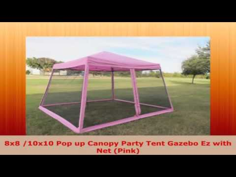 Get Quotations · 8x8 10x10 Pop up Canopy Party Tent Gazebo Ez with Net Pink  sc 1 st  Alibaba.com & Cheap 8x8 Pop Up Canopy find 8x8 Pop Up Canopy deals on line at ...