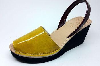 2930e36da14 Lady s Leather Sandal With Eva Platform Sole - Buy Spanish Leather ...