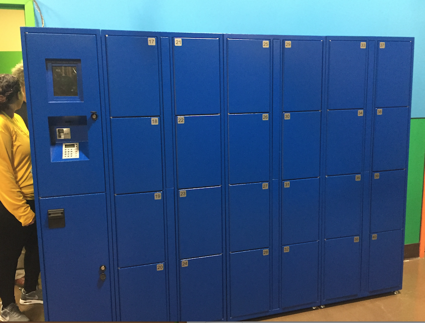 RFID laptop electronic lockers