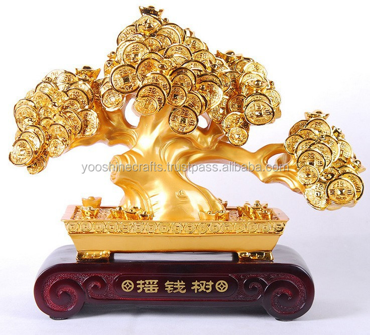 Golden money tree, Resin money tree