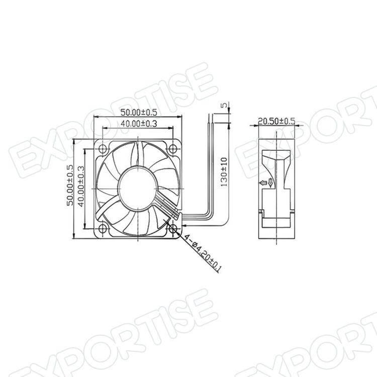 Water Cooling Fan 12v Axial Flow Fan 2 Inch Inline Fan