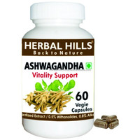 Natural Dietary supplement for stress relief Ashwagandha veg capsule