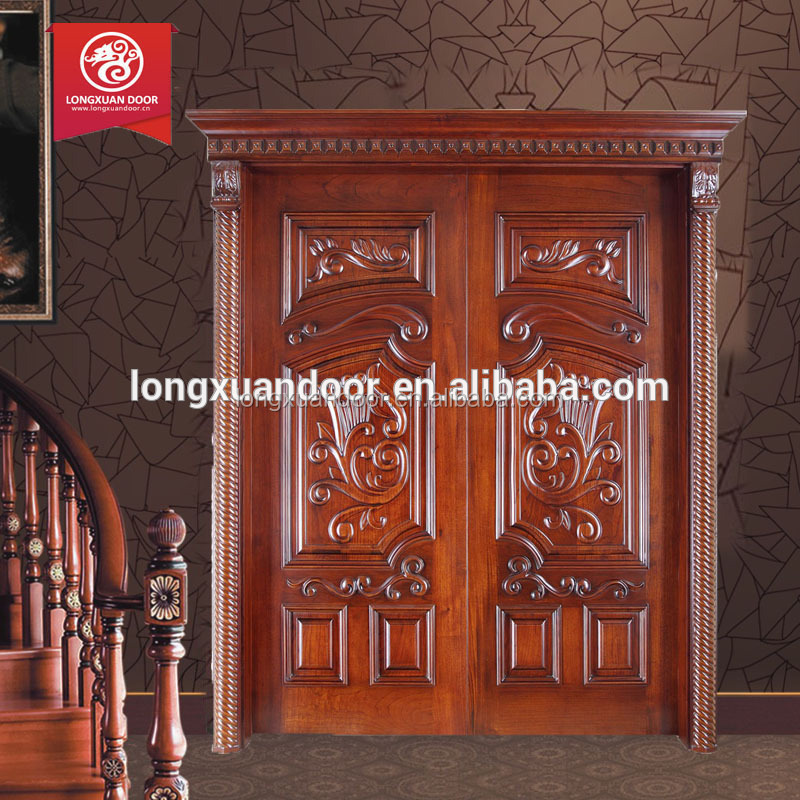 House main gate designs in wood kerala door design teak for Single gate designs for homes