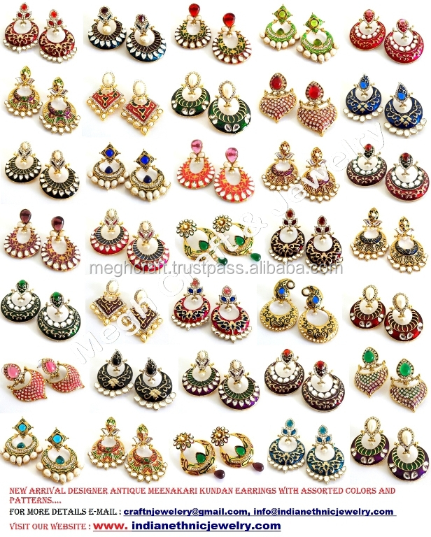 Wholesale Lot Indian Traditional Chandelier Earrings - Indian ...