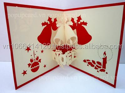 campanas de navidad d popup tarjeta