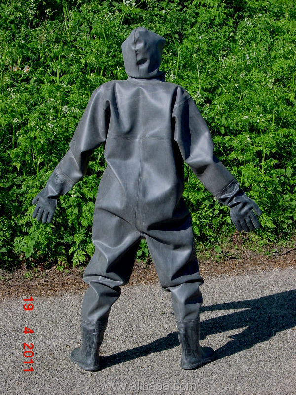 Jinqian New Thai Nature Full Rubber Waterproof Suit With