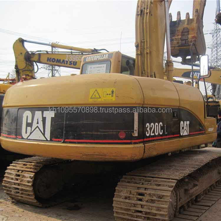 Caterpillar 320C long reach boom crawler excavator on sale , cheap used 320C excavators