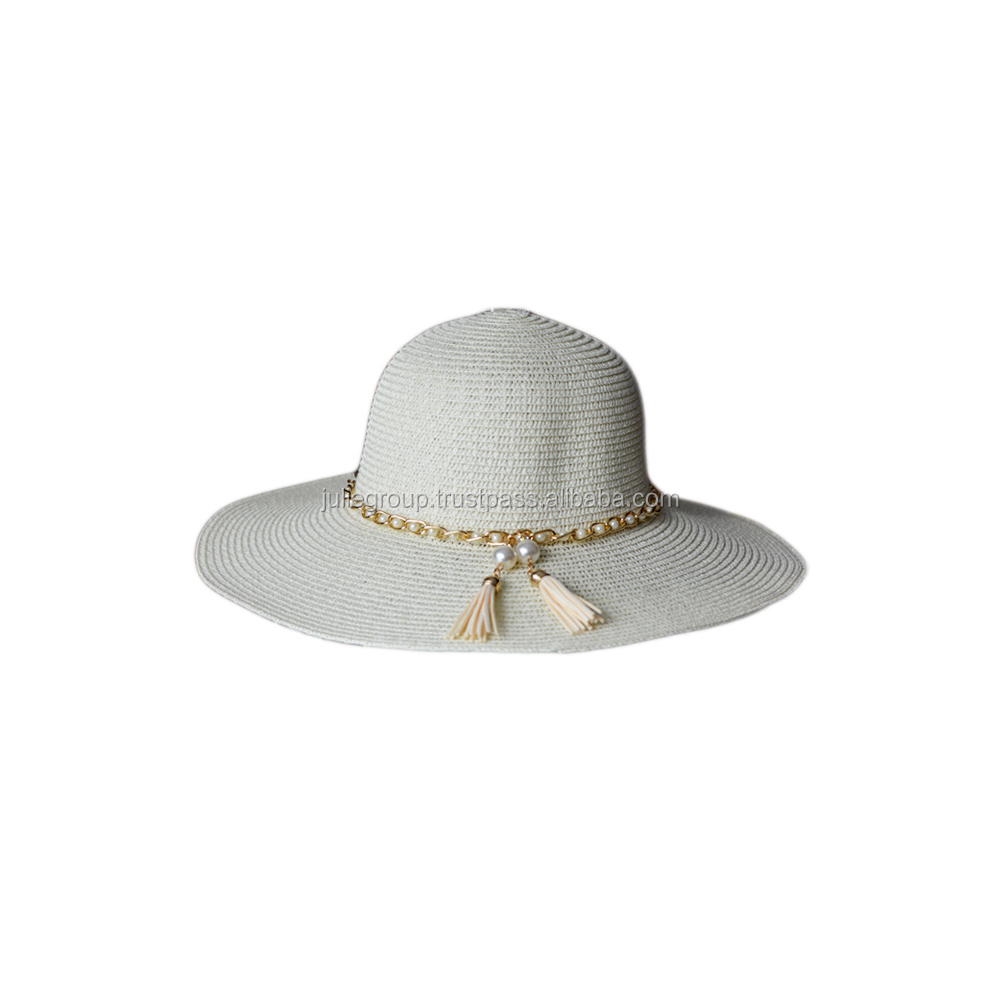 Fashion paper straw hat paper flopy hat made in Vietnam