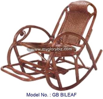 Natural Rattan Rocking Chair Indoor Chair Furniture, Antique Rattan Chair  For Relax, Rocking Armchair