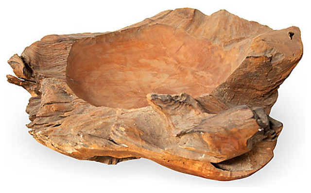 Handmade Teak Root Recycled Wood Bowl