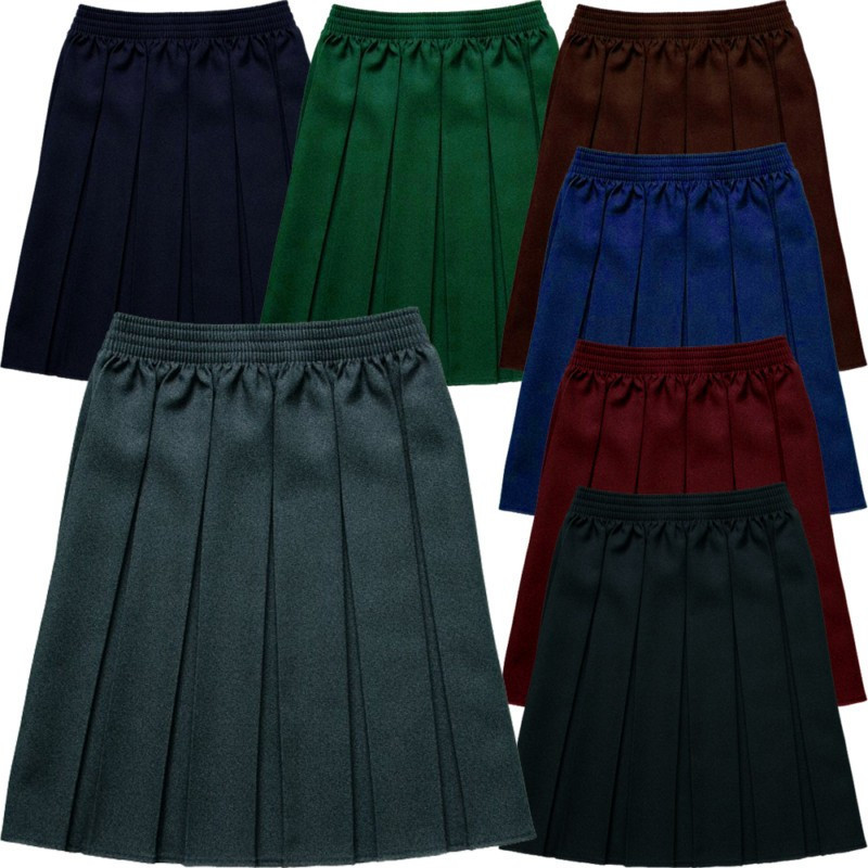 2015 Pleated Skirt Girls School Uniform Long Pleated Skirt,Long Or ...