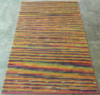 Texture Effect Flat Weave Nz Wool 10 Count Dhurrie Rugs