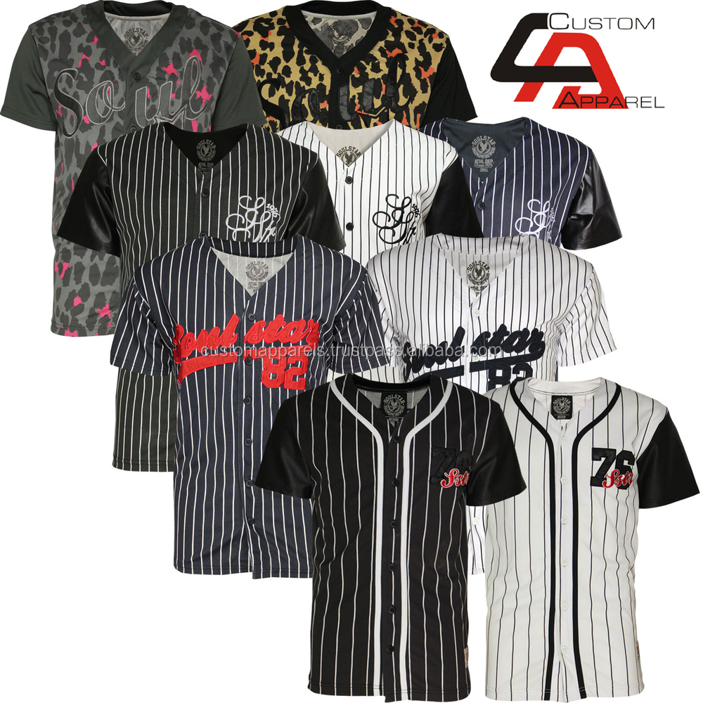 Latest 100 polyester fashion blank baseball shirts dri Designer baseball shirts