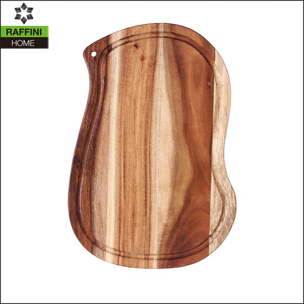 Custom Shaped wooden chopping board with groove