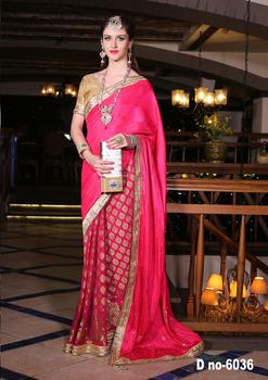 3565904a25949e Rani Color Cotton Silk Saree With Heavy Work Border - Buy Designer ...