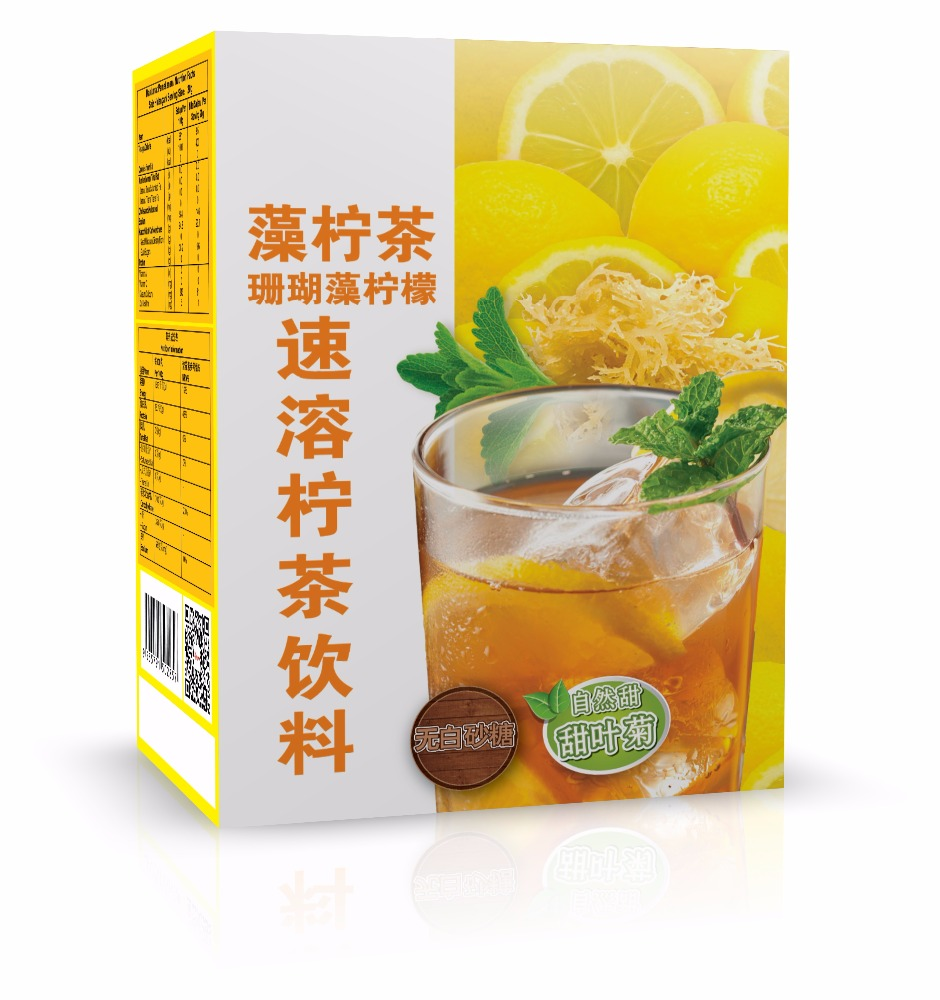 Lemon Tea with Instant Natural Seaweed ( Provide OEM )