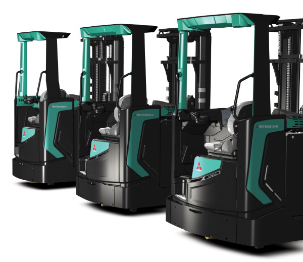 Mitsubishi Reach Trucks For Sales and Rental (RBS-CA/B Series), Leasing, Brand New and Used, Stand-On