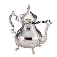 Luxury Silver Plated Brass Moroccan Teapot Coffee Kettle 850ML Capacity