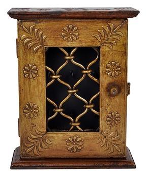 Traditional Design Wooden Wall Key Holder Cabinet Manufacturer