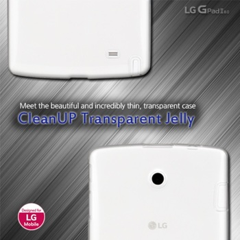 VOIA for LG G Pad2 8.0 Clear Soft Jelly case