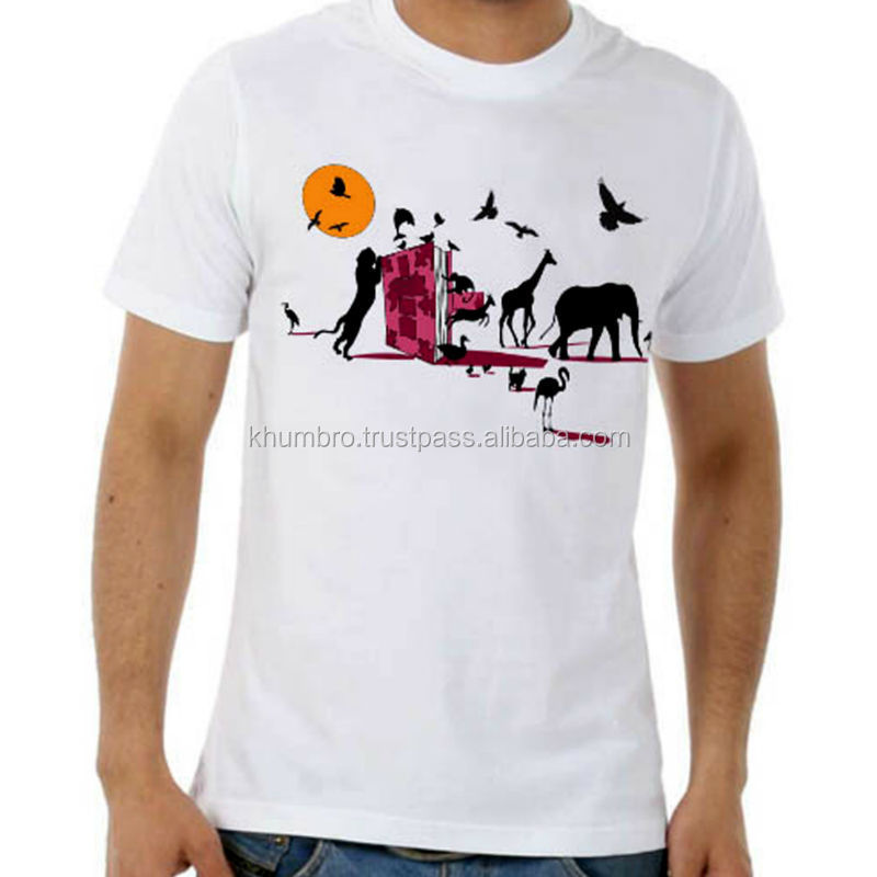 Custom Design Screen printing 100% Cotton T shirts