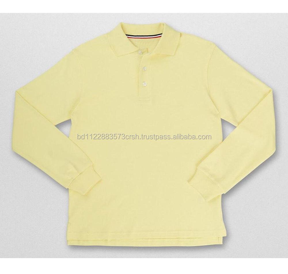 Boys Long Sleeve Polo Shirt100 Ctnpique180 Gsm Buy Boys Long
