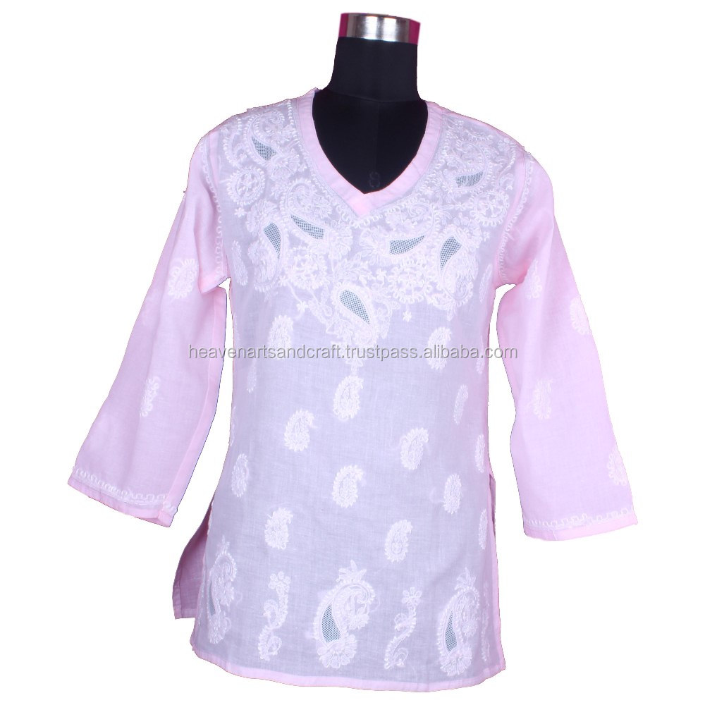 2016 Latest Kurti Designs DR164 New Morden Fancy Kurti Lakhnavi Chicken Embroidery Kurti