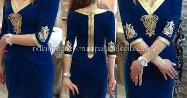 vente énorme professionnel de la vente à chaud réputation fiable Bleu tunique Marocain-Robes décontractées-ID de produit ...