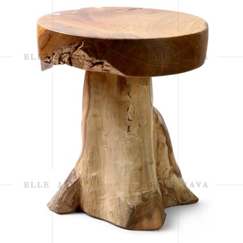 Teak Wood Garden Stool Home Furniture Natural Style