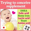 Multi-functional testosterone supplements ( DHEA Diosgenin + Folic acid for pre-pregnancy ) with Heme iron made in Japan