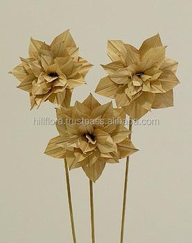 Daliah-corn Leaf Hand Made Flower