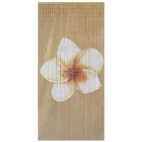 High quality best selling Bamboo Beaded Door Curtain with Plain Frangipani on natural background in Viet Nam